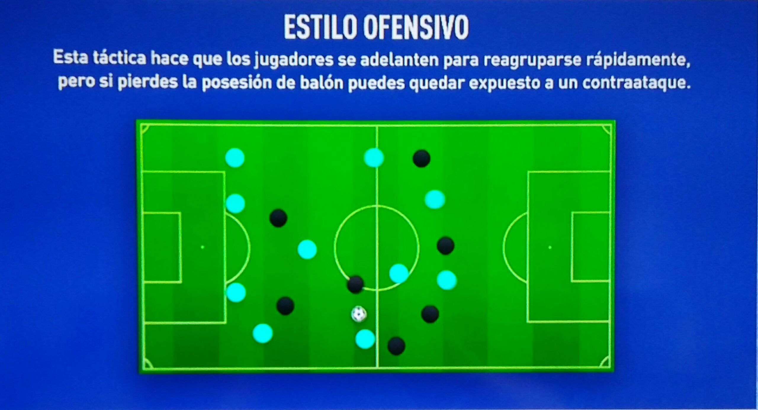 FIFA 19. Estilo Ofensivo. Rearme Rápido