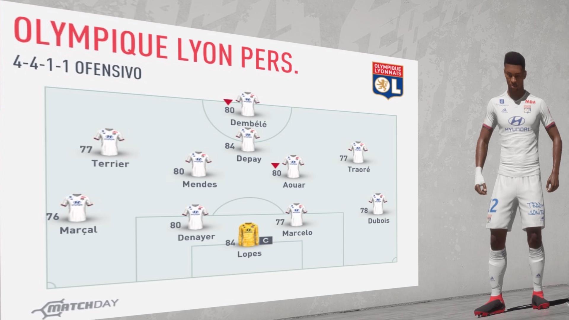 Olympique de Lyon 2019-20… Análisis FIFA 20
