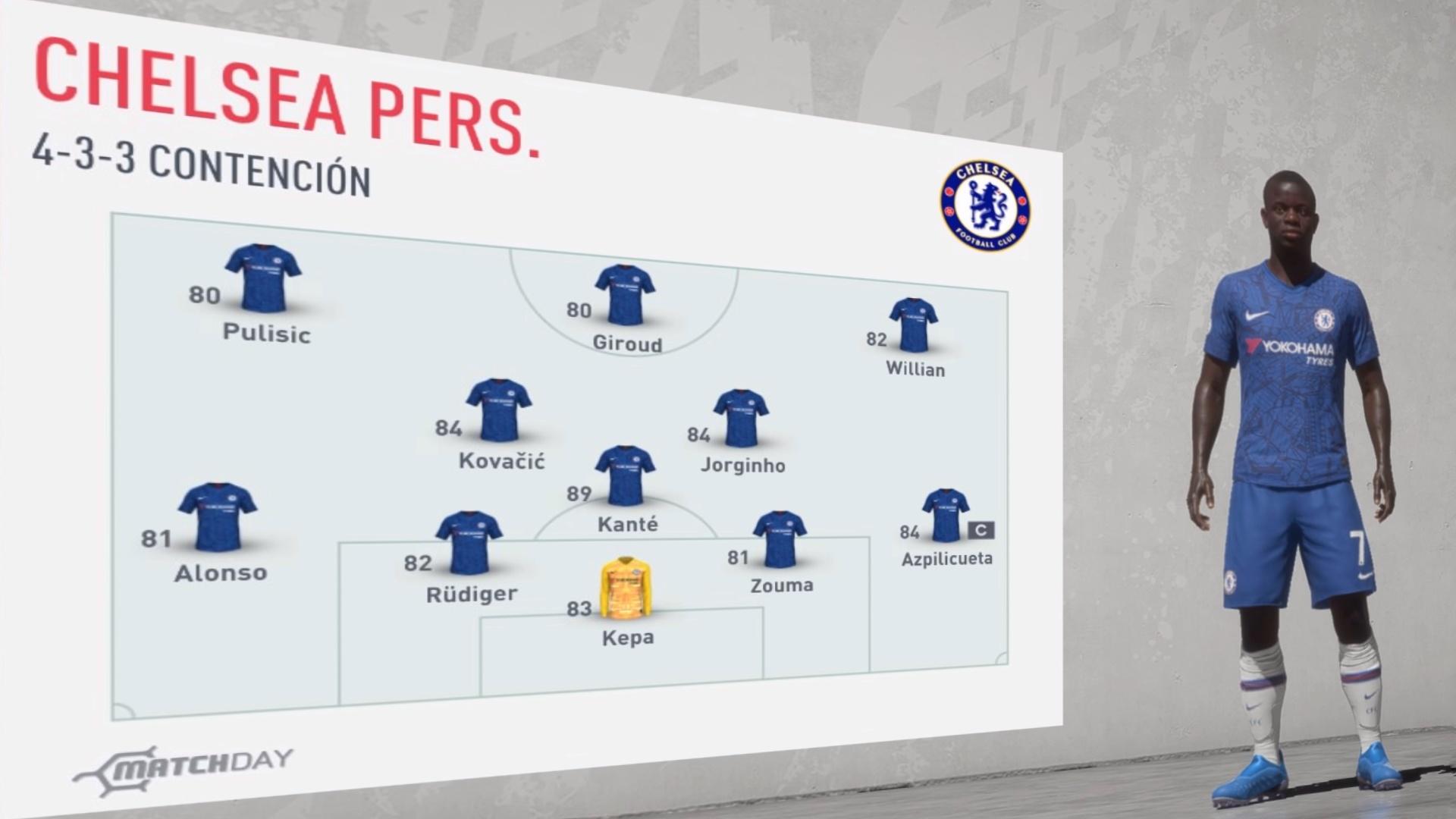 Chelsea 2019-20… Análisis Fifa 20… Los de Stamford Bridge no son lo que eran
