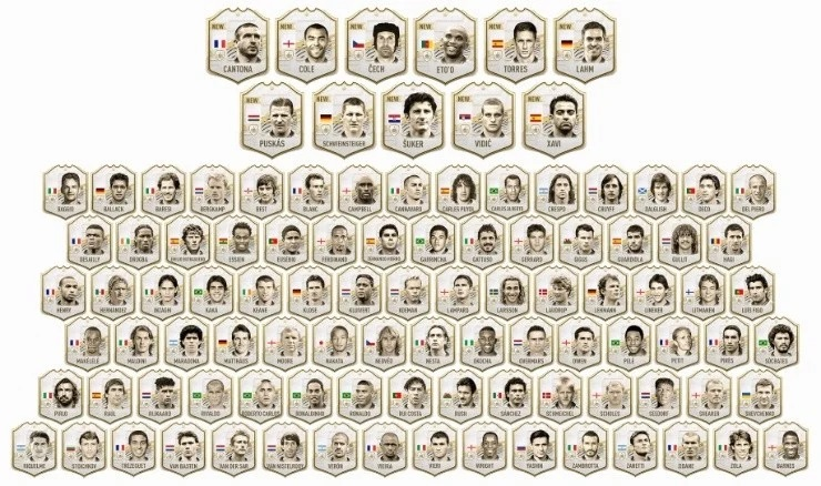 Iconos Fifa 21… Un centenar de leyendas para elegir