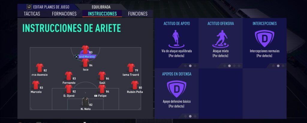 Instrucciones de Ariete Fifa 21