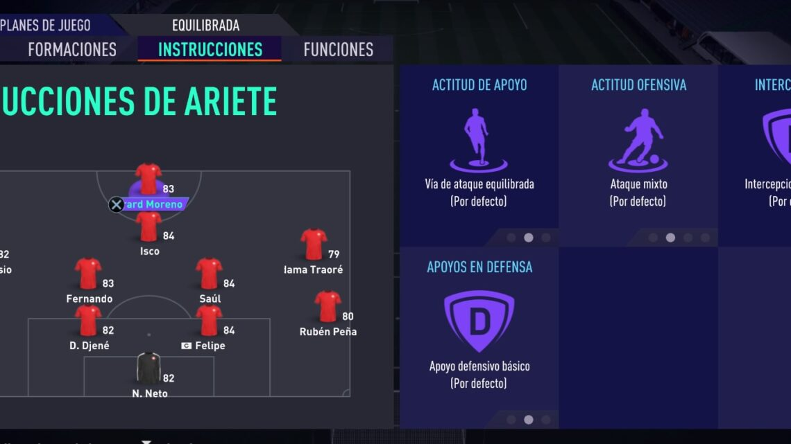 Instrucciones de jugador Fifa 21