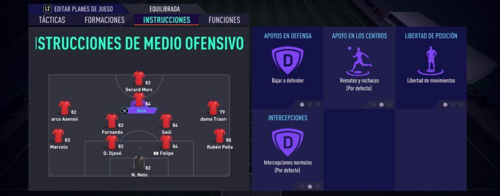 Instrucciones Medio Ofensivo Fifa 21