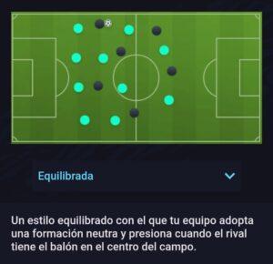 Estilo defensivo equilibrado Fifa 21