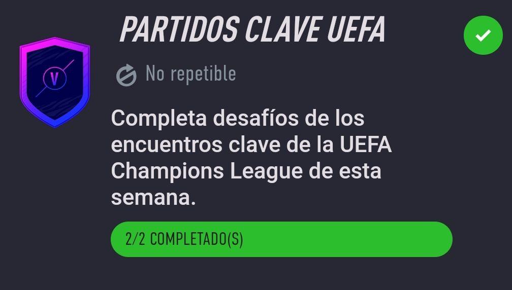 Partidos Clave UEFA – Desafío de Creación de Plantillas Fifa 21